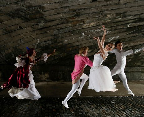 the royal moscow ballet practising in Dublin.