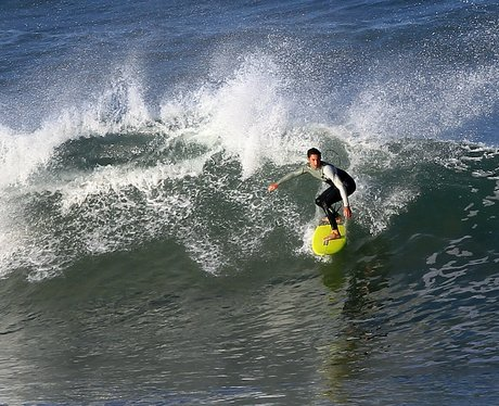 A man surfing in france