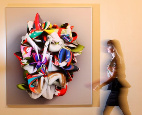 An artwork at the exhibition