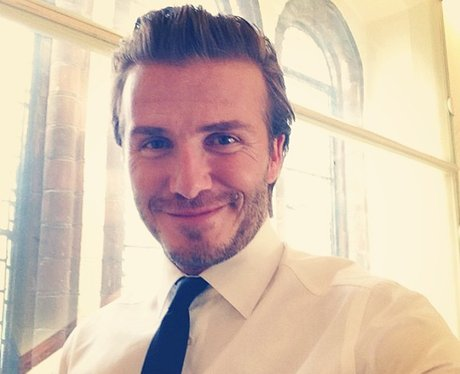 The Top Ten Hairstyles For Men As Modelled By David Beckham Heart - Quiff hairstyle david beckham