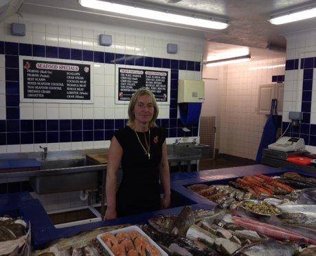 Kerry Bickerstaff West Quay Fisheries in Newhaven