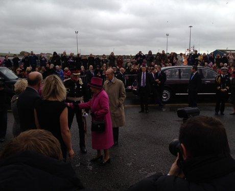 Queen Arrives In East Sussex