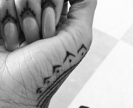 Rihanna's hand art work