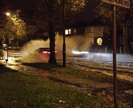Flooding near Pokesdown