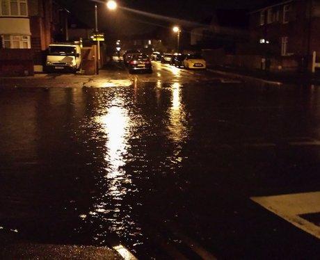 Flooding near Pokesdown, Bournemouth