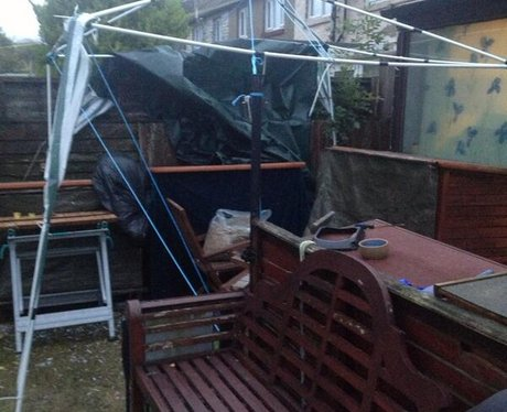 Strong winds causing damage