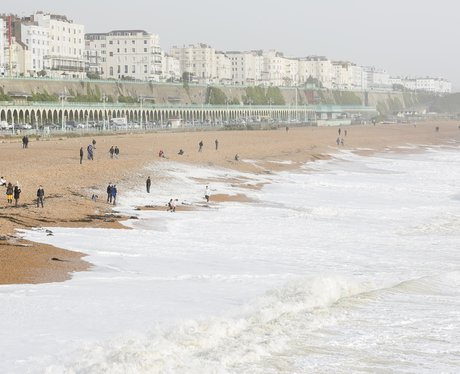 brighton beach being being hit by the storm