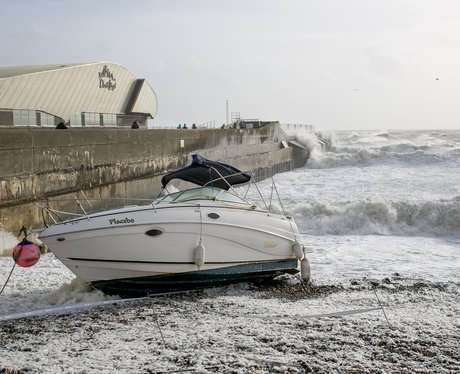 boat washed ashore
