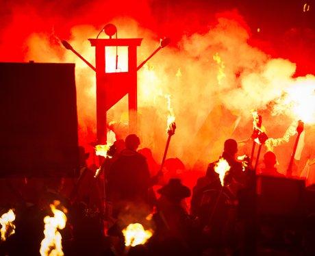 bonfire night parade in Sussex