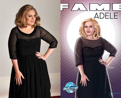 Adele and her cartoon