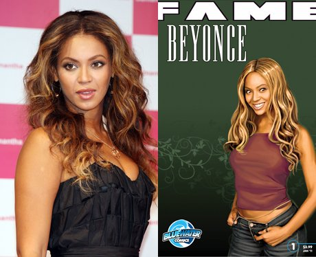 Beyonce and her cartoon