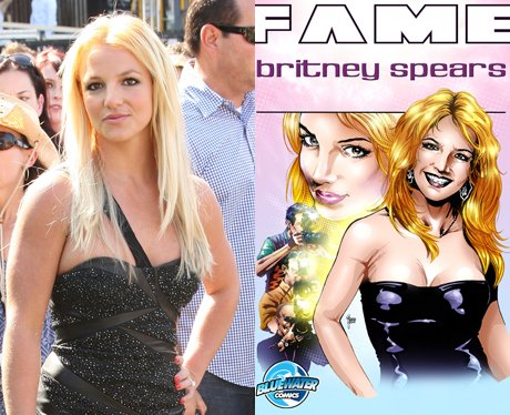 Britney Spears and her cartoon