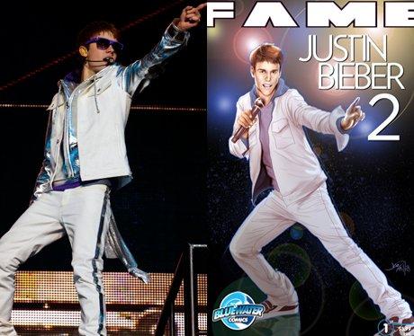 Justin Bieber and his cartoon
