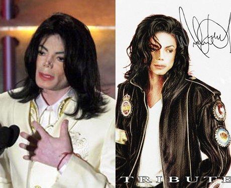 Michael Jackson and his cartoon