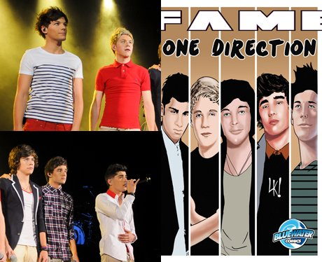 One Direction and their cartoon