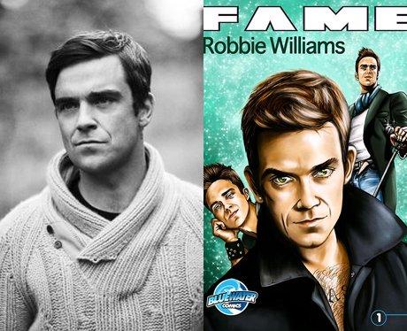 Robbie Williams and his cartoon