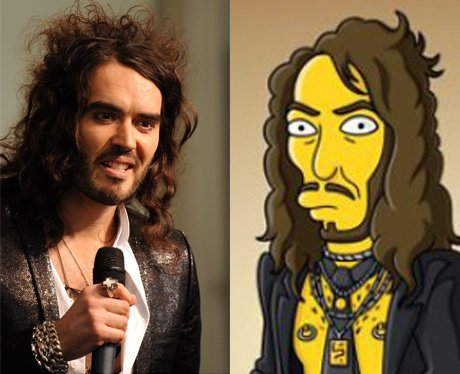 Russell Brand and his cartoon