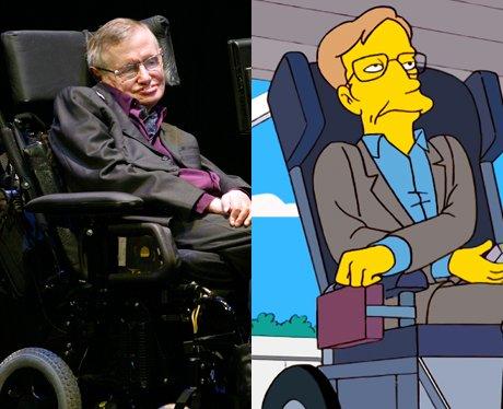 Stephen Hawking and his cartoon