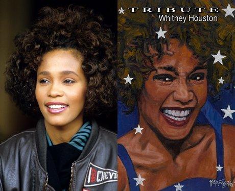 Whitney Houston and her cartoon