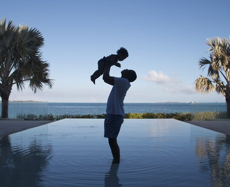 Jay Z and Blue Ivy Carter on holiday