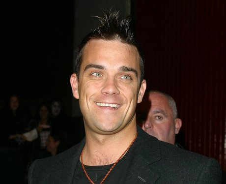Robbie Williams smiling