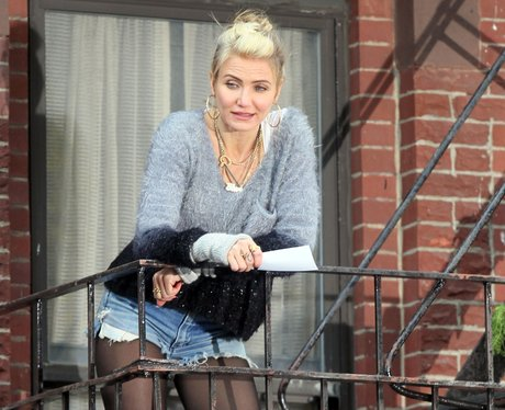 Cameron Diaz on set filming 'Annie' in New York