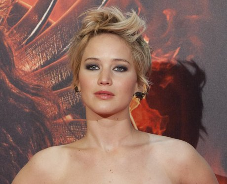 Jennifer Lawrence with hair in quiff