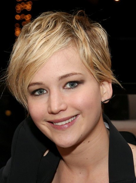 Jennifer Lawrence with new blonde pixie cropped hair