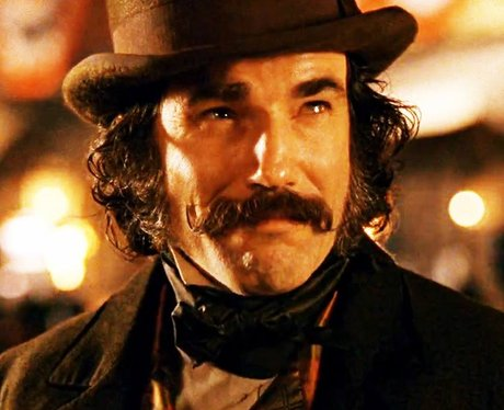 Daniel Day Lewis with a moustache