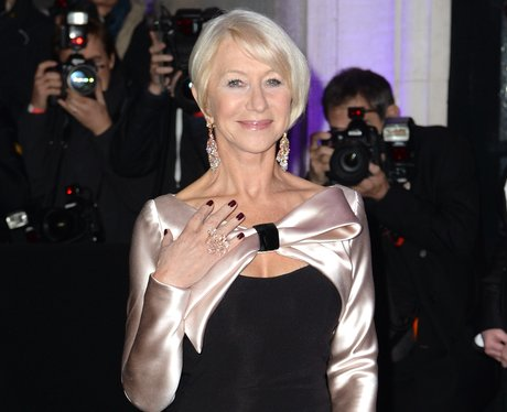 helen mirren photographed on the red carpet