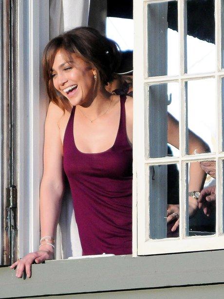 Jennifer Lopez is seen on set 'The Boy Next Door'