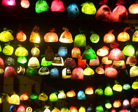 plastic bags with lights