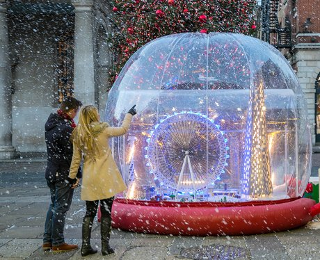 giant snow globe of london
