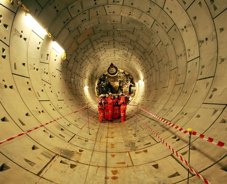 completed section of crossrail tunnel