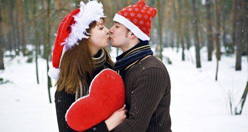 Christmas Kiss.Have A Merry Kissmass Heart North West