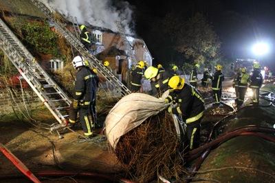 Brockenhurst thatched cottage fire 2