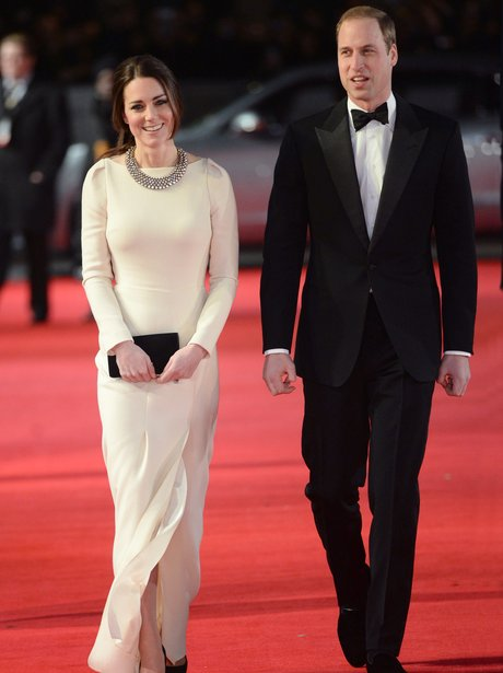 Kate Middleton and Prince William on red carpet at Mandela film