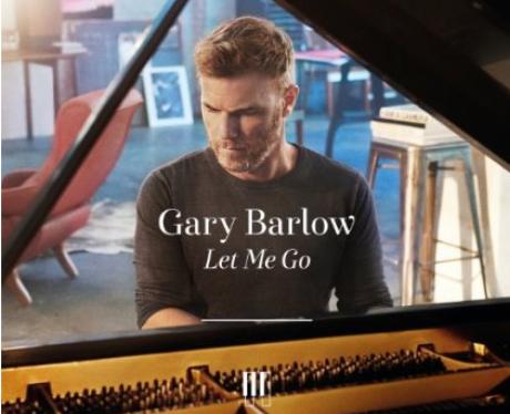 Gary Barlow plays piano