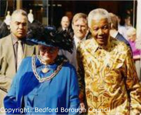 Visit by Nelson Mandela to Bedford