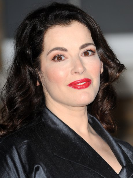 Nigella Lawson normally sticks to nude lips, but sometimes vamps it up with a red... - Heart