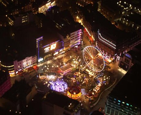 winter wonderland in london's leicester square