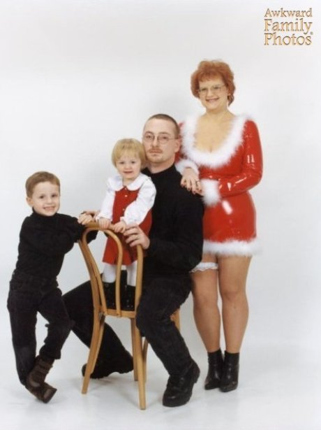 things not to wear in christmas cards 34 pvc photo awkward family photos - Awkward Family Christmas Photos