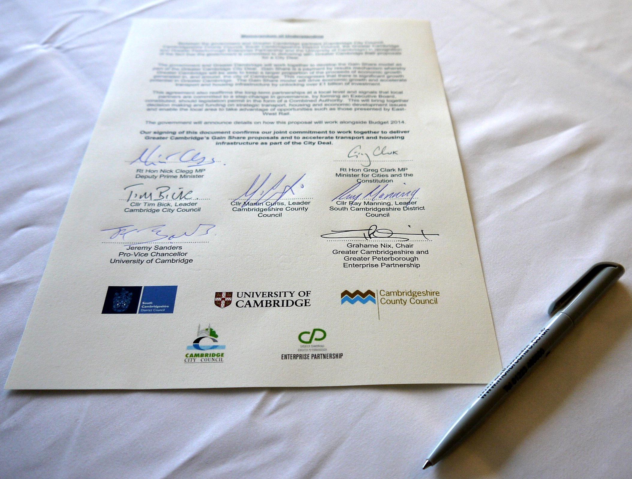 Cambridge City Deal
