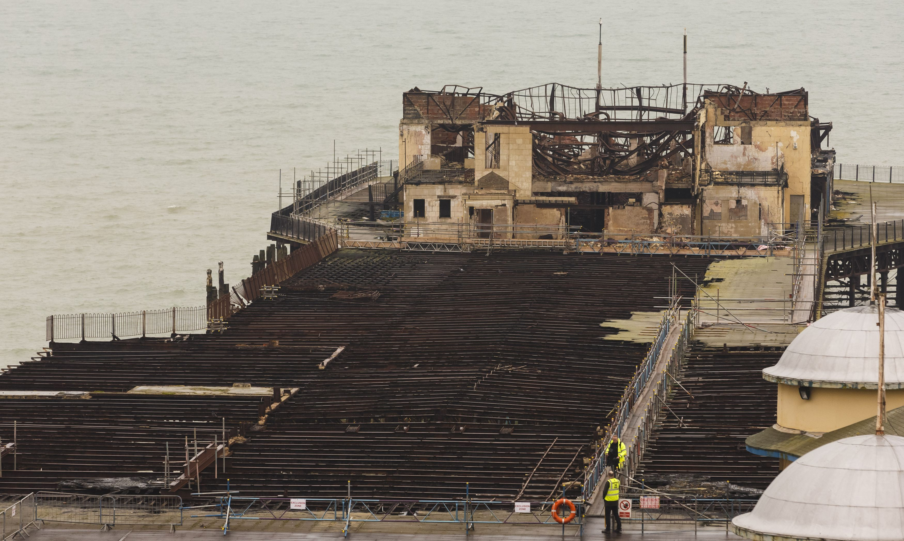 Fire Ravaged Hastings Pier