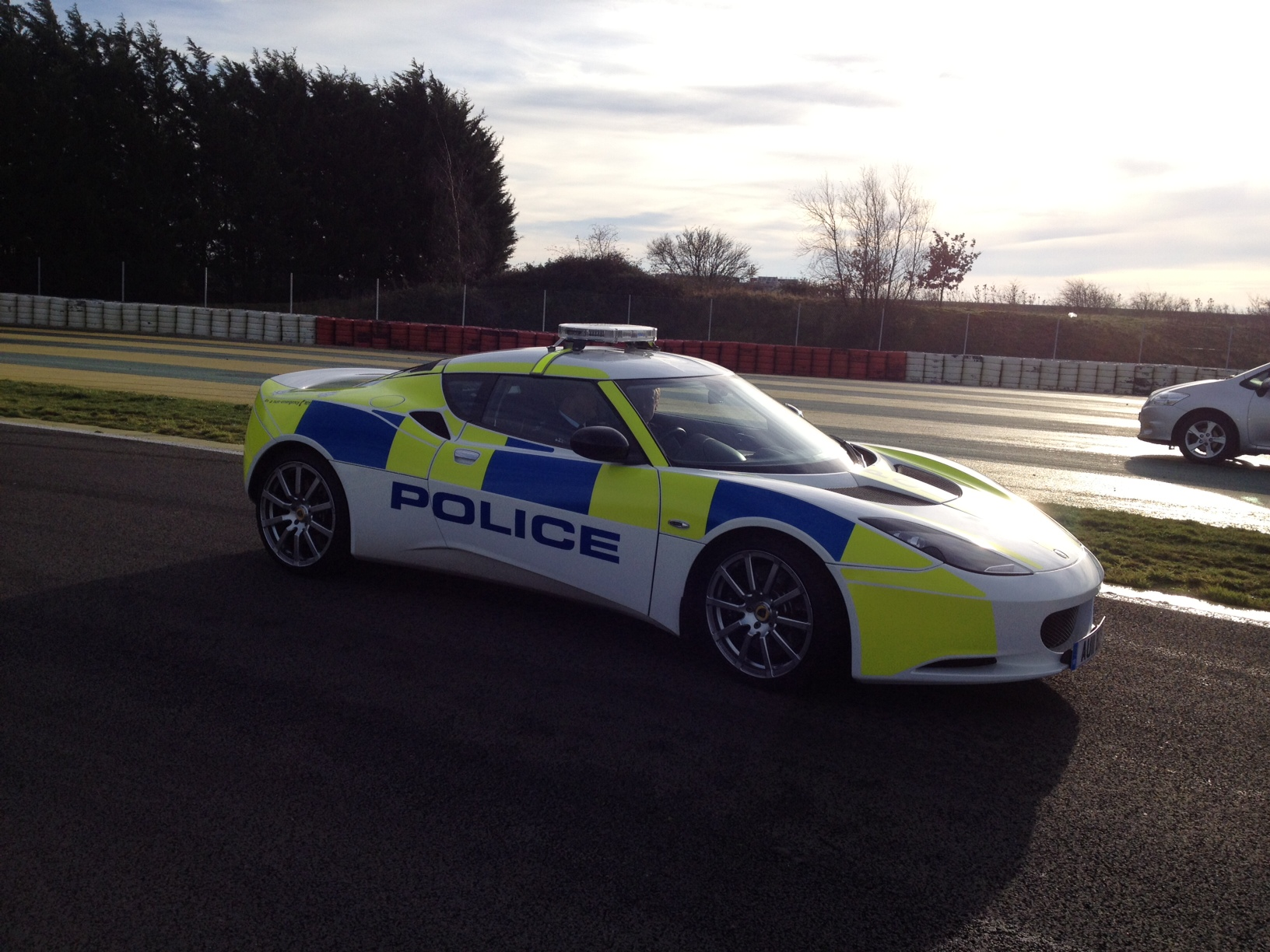 Police lotus car
