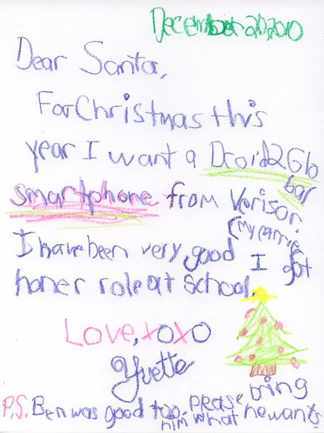 Throwback thursday real letters to santa heart 13 aww yvette is looking out for her brother ben this year too spiritdancerdesigns Images