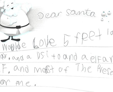 Throwback thursday real letters to santa heart hmmm santa will do his best spiritdancerdesigns Images