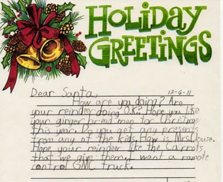 Throwback thursday real letters to santa heart its nice to see someone asking after father christmas spiritdancerdesigns Images