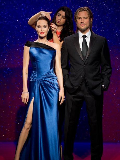 Brad Pitt and Angelina Jolie waxworks