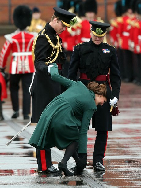 Duchess of Cambridge gets her heel stuck in drain